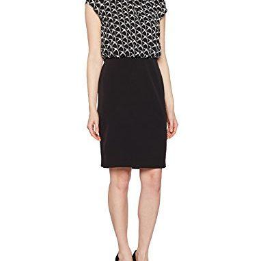 Business Kleid Comma Damen Kleid 81702823869 Grau Aop Dove 99a0